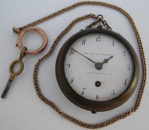 Ch. Oudin wooden watch for widows