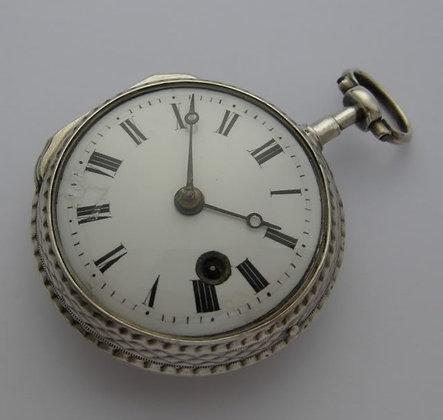 Bordier à Paris, verge escapement silver watch