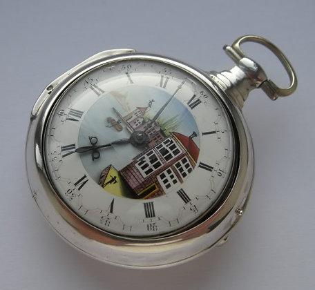 D. Neveren London, pair case pocket watch