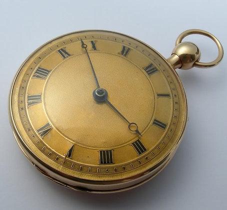 18K gold quarter repeater verge pocket watch