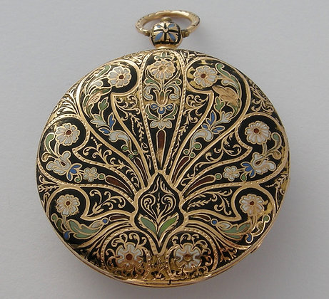 Breguet gold and enamel pocket watch