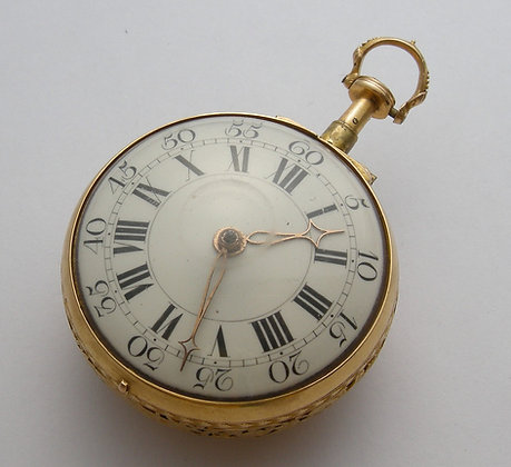 Naylor, 22K gold quarter repeater on a bell c.1750