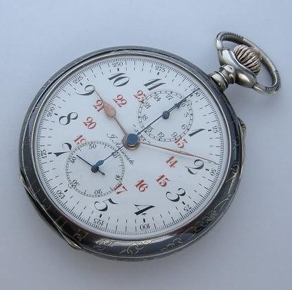 Auricoste, niello silver chronograph