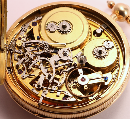 SOLD 18K gold Grande Sonnerie pocket watch (+ Video)