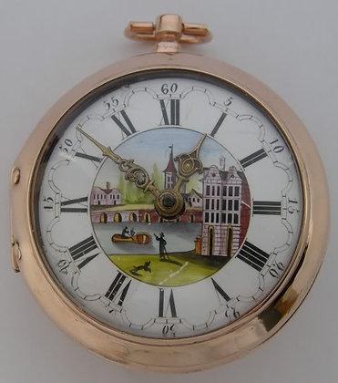 Decharme London, enameled watch c. 1700