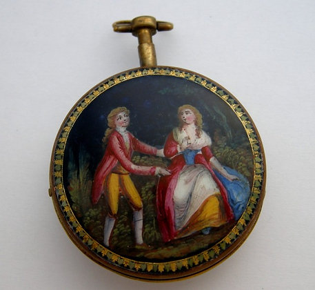 Mérouze à Castres, enameled pocket watch