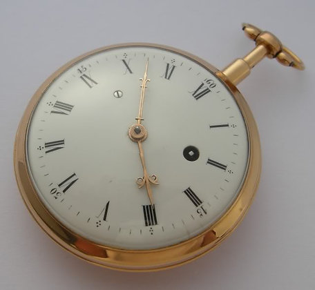 "Verge gold watch with quarter repeater ""à toc"""