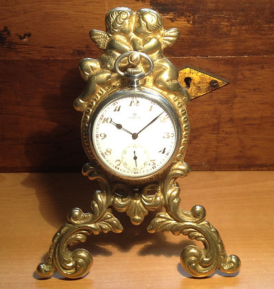 Pocket watch holder with angels