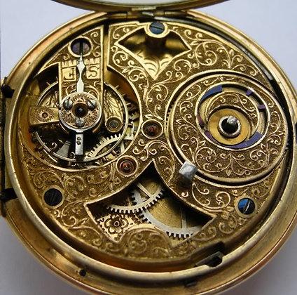 Fiebelmann à Rotterdam, gold duplex pocket watch