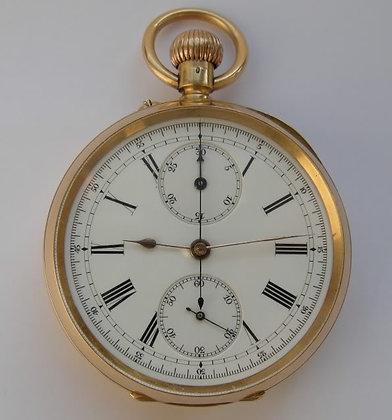 High quality 18K gold English chronograph