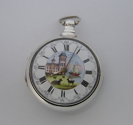 English pair case pocket watch