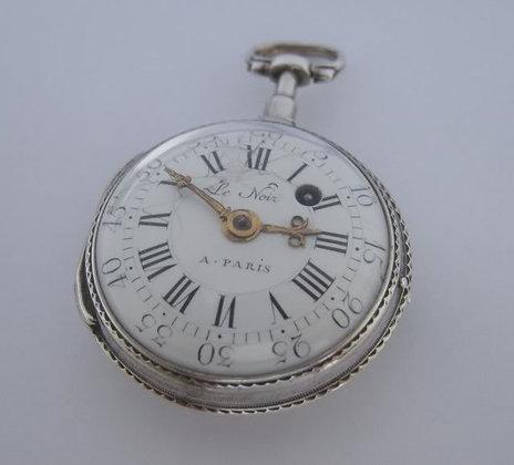 Le Noir à Paris, verge silver watch