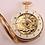 Thumbnail: 18K gold automaton skeletonized watch