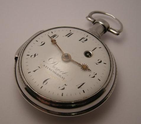 Dezert à Tinchebray, verge silver watch