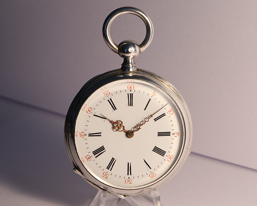 Colin à Nevers, silver watch circa 1880