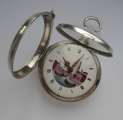 Corn Wheeler, pair case English watch