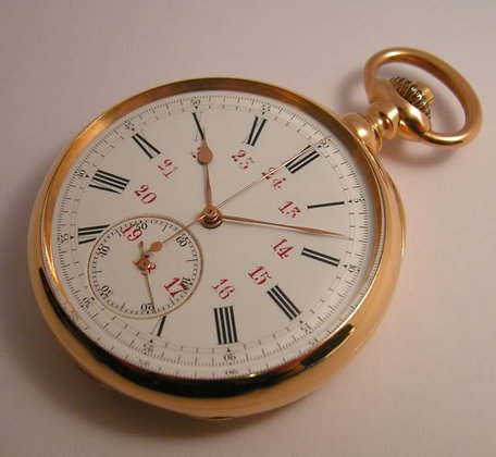 Meylan, 18K gold chronograph