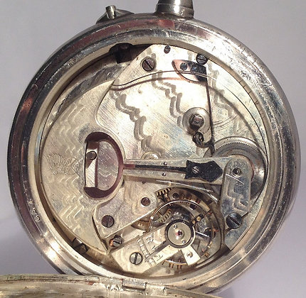 Rare self winding pocket watch with power reserve