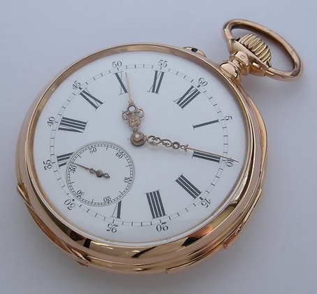 18K gold minute repeater pocket watch