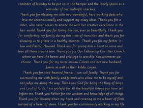 Thanksgiving Love Letter