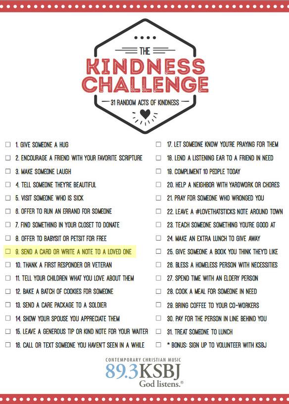 KSBJ Kindness Challenge