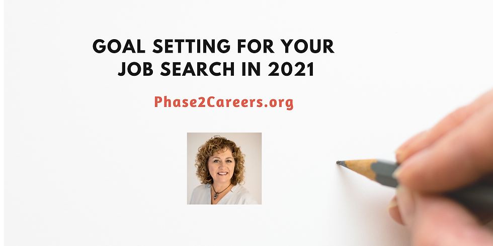Goal Setting in Your Job Search in 2021