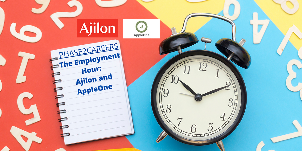 Career Opportunities with Ajilon and  AppleOne