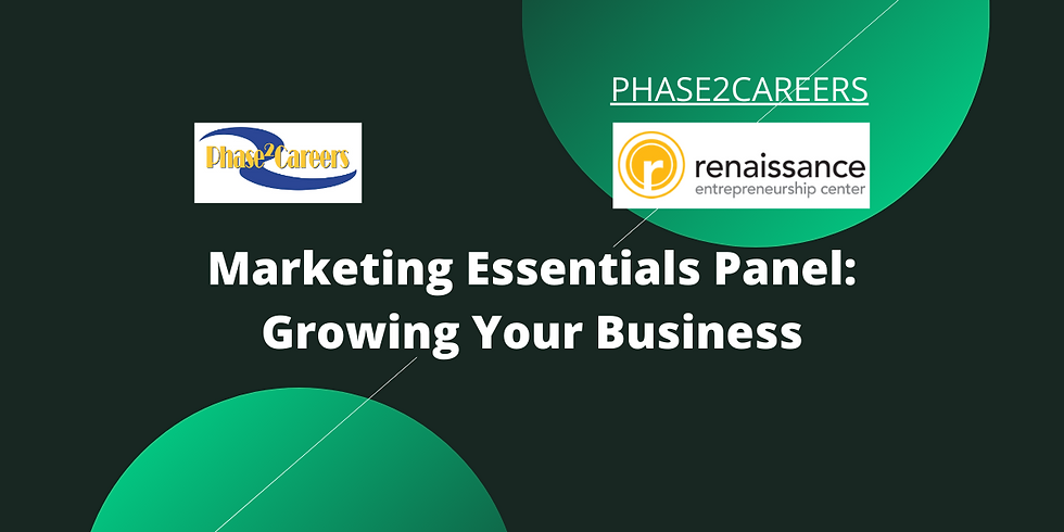 Marketing Essentials: Growing Your Business Panel