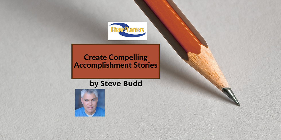 Creating Compelling Accomplishment Stories