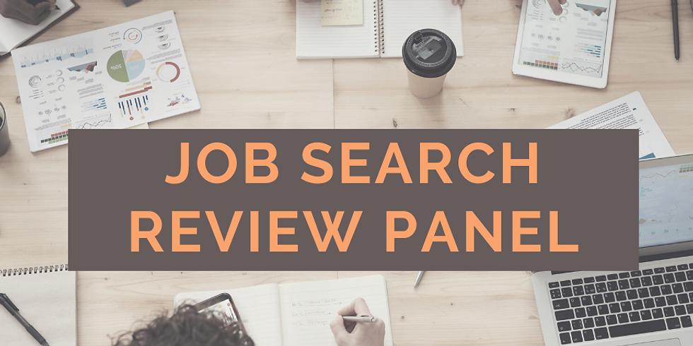 Job Search Review Panel