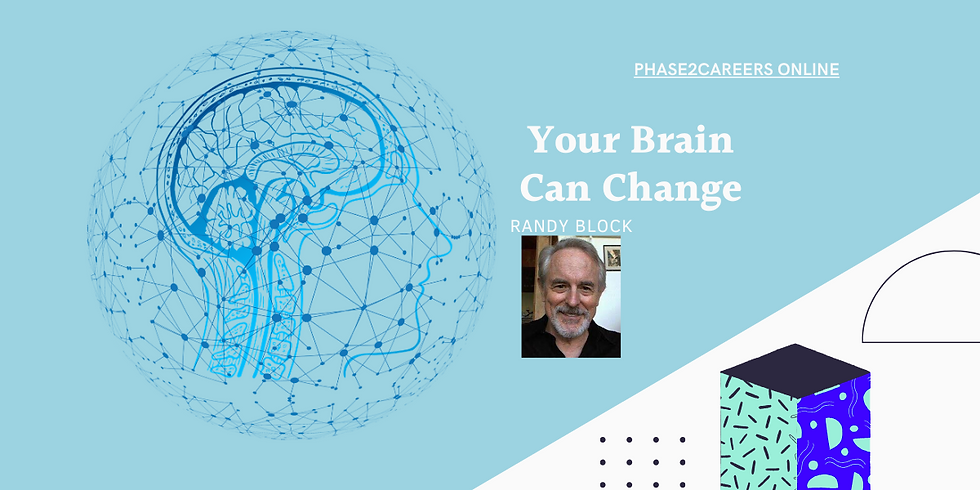 Your Brain Can Change Presented by Randy Block