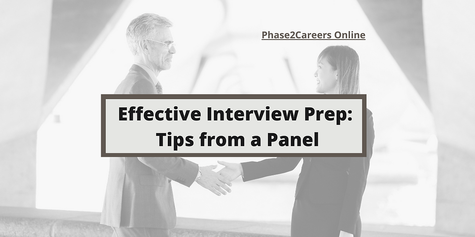 Effective Interview Prep: Tips from a Panel