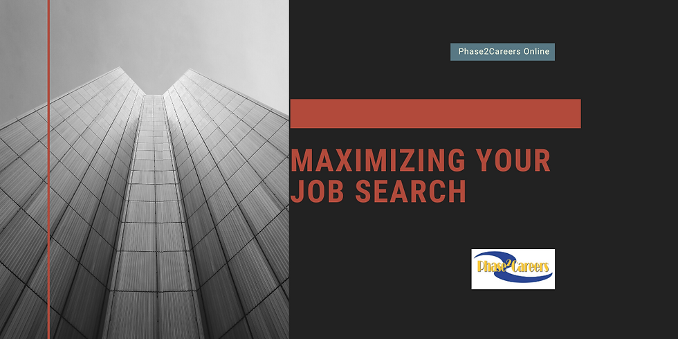 Maximizing Your Job Search