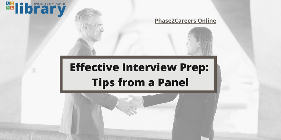 Effective Interview Prep Panel
