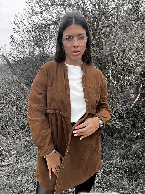 Sobrecamisa de pana marrón