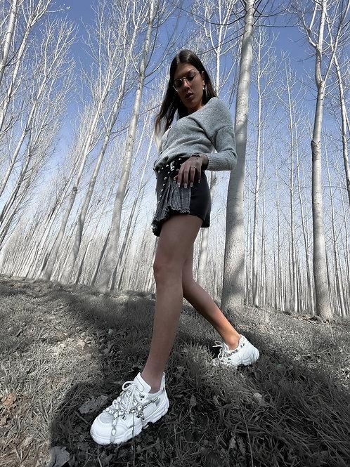 Falda - pantalón vichy