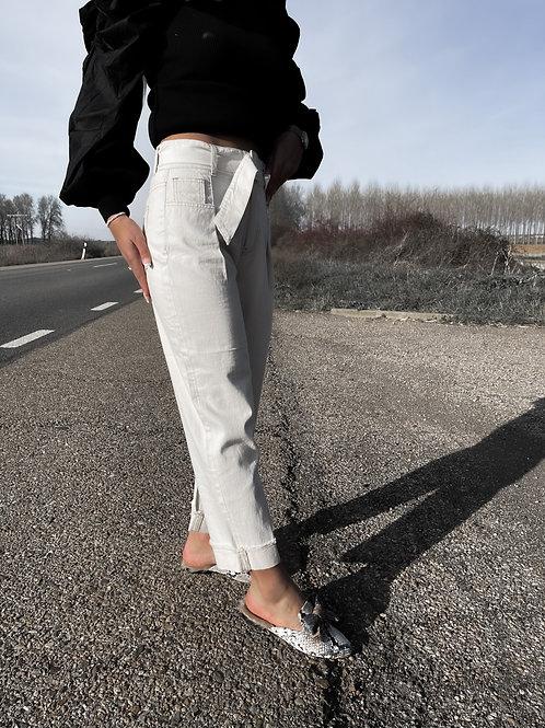 Jeans mom tiro alto
