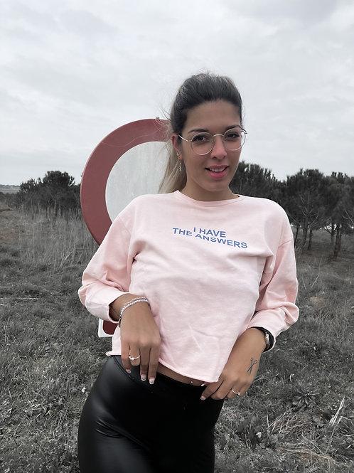 """Sudadera rosa """"rock"""""""