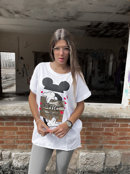 Camiseta - vestido Mickey Mouse