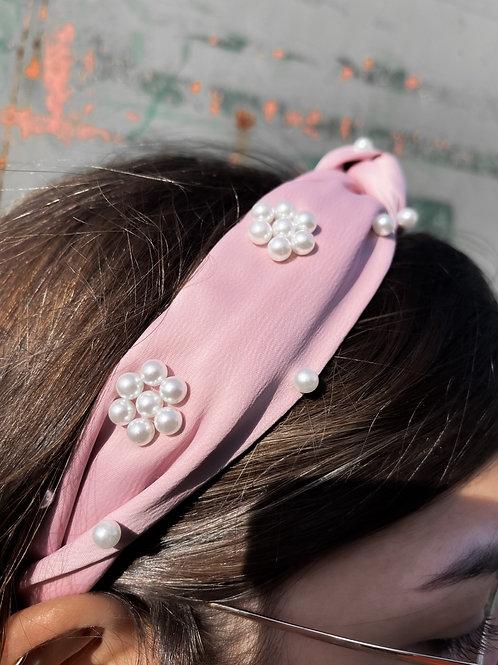 Turbante nudo perlas