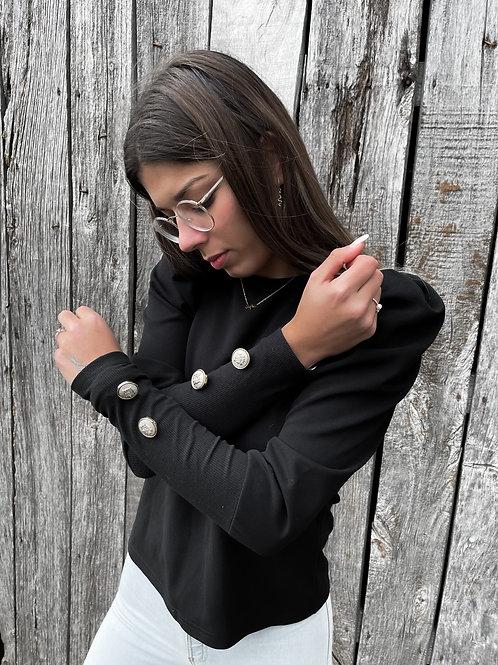 Jersey negro con botones