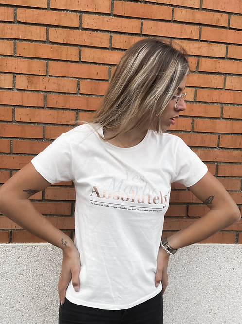 Camiseta texto blanca