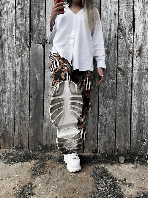 Pantalón flare estampado