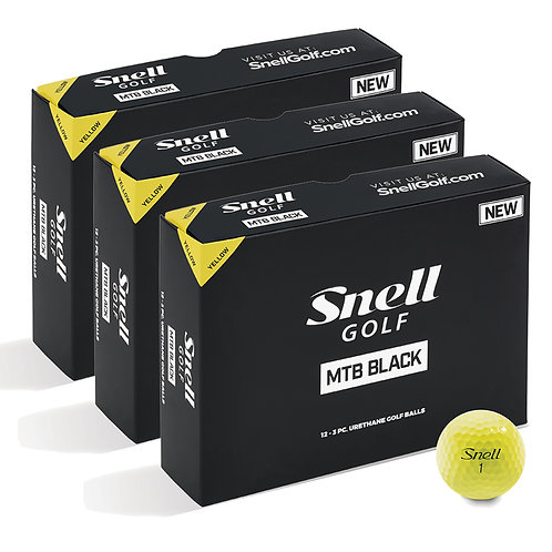 Snell MTB Black Yellow Value Pack (3 Dozen)