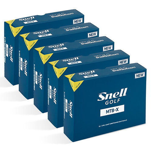 Snell MTB-X Yellow Value Pack (5 Dozen)