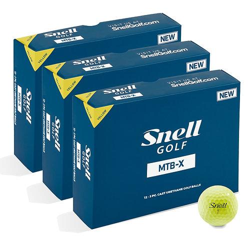 Snell MTB-X Yellow Value Pack (3 Dozen)