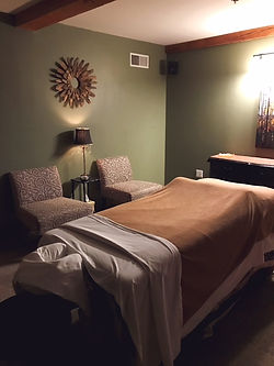 Massage treatment room at Serenity Massage