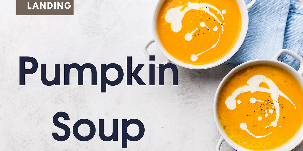 Soup to go @ The Landing - Pumpkin Soup with Cranberry Walnut Bread