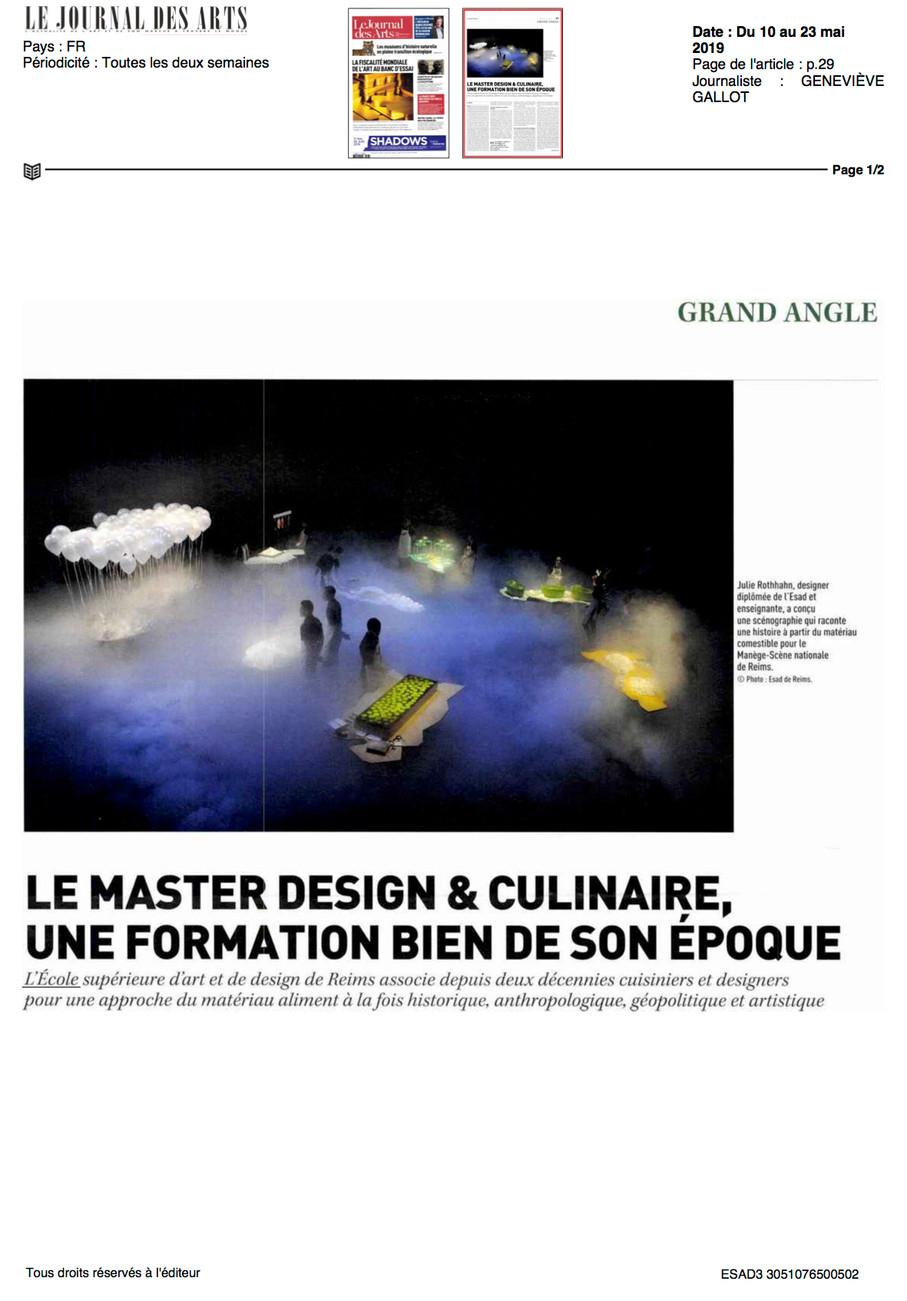 2019-05-10-LE JOURNAL DES ARTS-Du 10 au