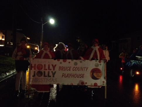 Bruce County Playhouse at the Santa Clause Parade
